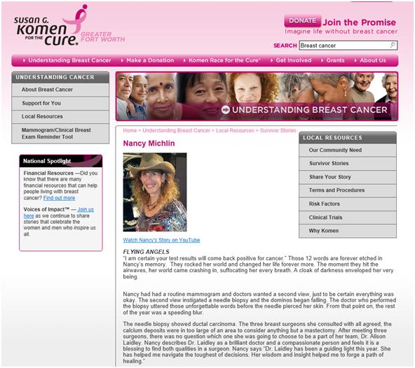 Komen Site Survivor Profile